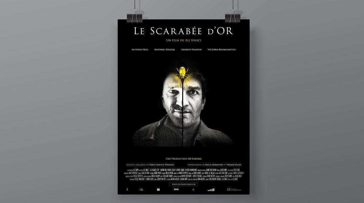 AS Cinéma, affiche de film réalisée par l'agence Zedcom