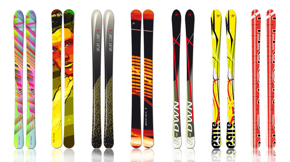 Design de skis pour Pale ski and sport, par l'agence Zedcom