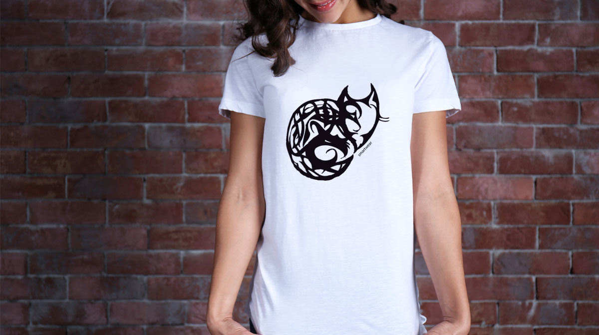 Design de t-shirt smartwear, réalisé par Zedcom